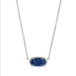 Elisa Silver Pendant Necklace in Violet Drusy